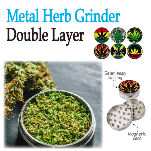 Double Layer Metal Zinc Alloy Herb Tobacco Grinder Hand Muller Smoke Crusher