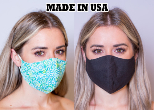 Face Masks -  Washable, Filter Pocket, Made In Usa, 100% Cotton, Triple Layers