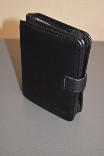 PDA PU Leather Black Wallet