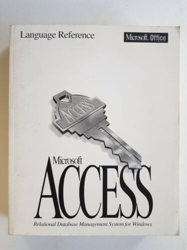 Access V2 Microsoft Official Language Reference Office 873 pages