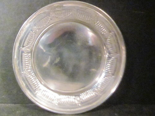 """Sterling  Frank Whiting COASTER OR BUTTER LEMON  PLATE  4 3/4"""" No Mono #9933"""