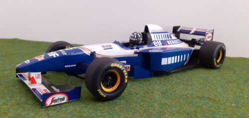 F1 WILLIAMS RENAULT 1995 FW17 D. HILL 1/18  MINICHAMPS 180950005 voiture miniat.