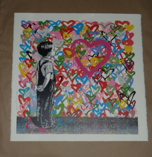 Mr. Brainwash With All My Love art screen print poster signed hearts Banksy
