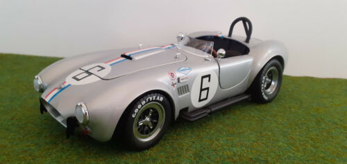 SHELBY COBRA 427 S/C RACING # 6 cabriolet gris silver 1/18 KYOSHO 08041S voiture