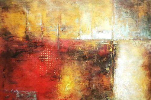 Abstract -Item #6, 48x72 (4 ft.x 6 ft.) 100% Hand painted Oil Painting on Canvas