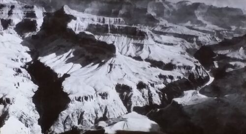 The Grand Canyon of the Colorado, Magic Lantern Glass Slide, from a Photograph