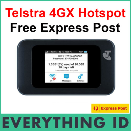 TELSTRA 4G 4GX PREPAID WIFI MODEM HOTSPOT MOBILE BROADBAND ZTE MF985T AU STOCK