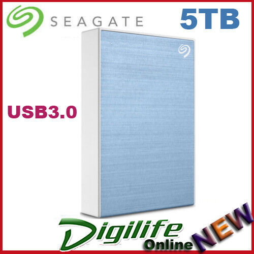 Seagate Backup Plus 5TB USB 3.0 Portable External Hard Drive Blue STHP5000402