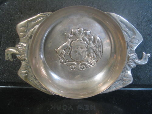 Vintage .900 Sterling CHILI ASHTRAY OR SMALL FLAT BOWL 86 Grams