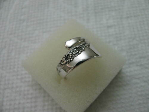 Sterling Silver spoon RING s 5.5 BLOSSOM TIME Flora Jewelry # 7124