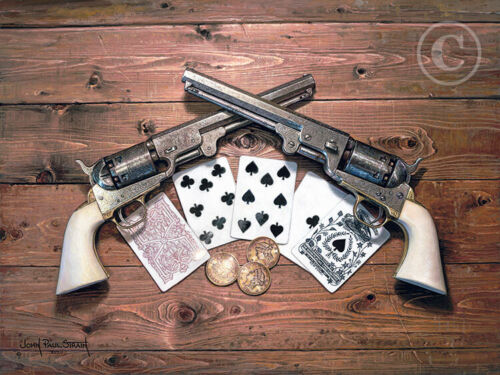 ACES AND EIGHTS  - By John Paul Strain - Signed Studio Canvas Giclée