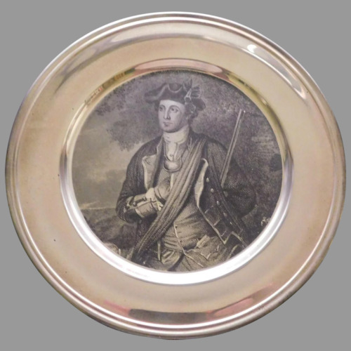 The Kirk Collection 1972 Sterling  YOUNG GEORGE WASHINGTON PLATE W/ BOX & PAPERS