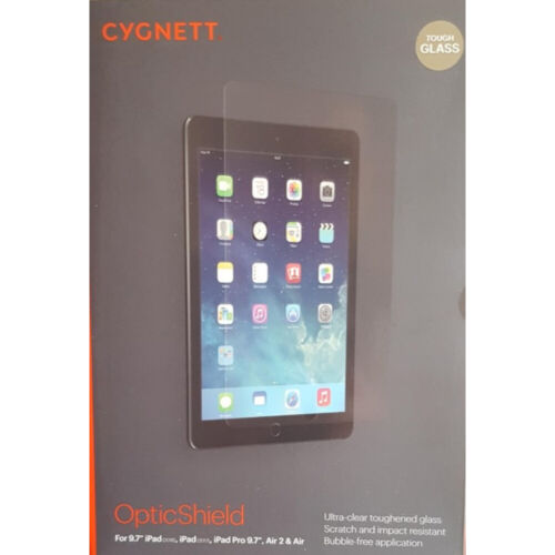 "Genuine Cygnett iPad Tempered Glass Screen Protector For iPad Air2,9.7""(2017,18)"