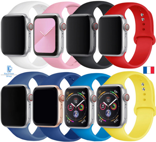 Bracelet Apple Watch Série SE 6 5 4 3 2 1 Silicone 38 / 40 mm - 42 / 44 mm