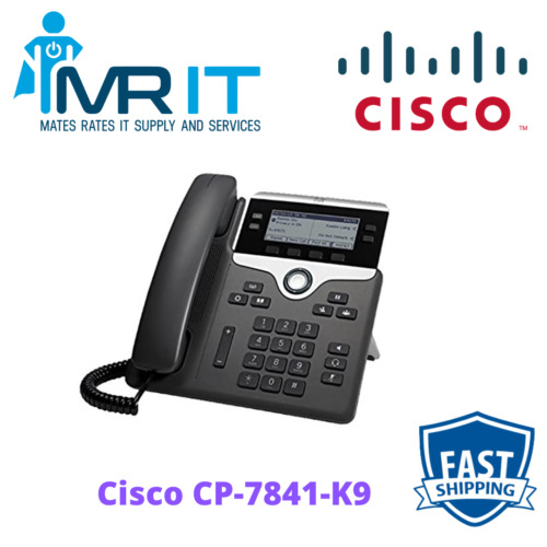 Cisco CP-7841-K9 4-Line IP Phone (Power Supply Not Included)