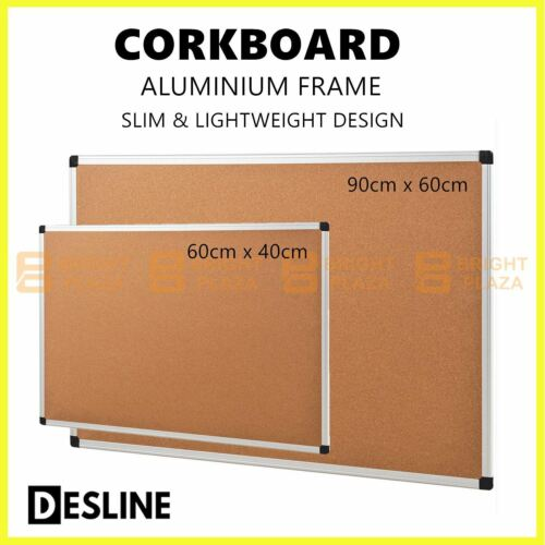 Cork Board Corkboard Pinboard Notice Large Memo Photos Aluminium Frame Wall Pin