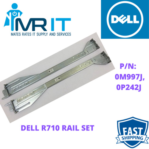 DELL R710 INNER AND OUTER RAILS. P/N: 0M997J, 0P242J