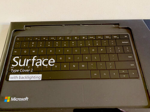 Genuine Microsoft Surface Type Cover 2 w/Backlight N7W-00101 Model 1561