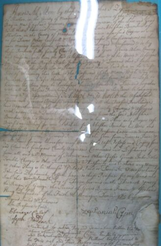 Important 1756 Sherborn NANTUCKET / COFFIN Family original deed document