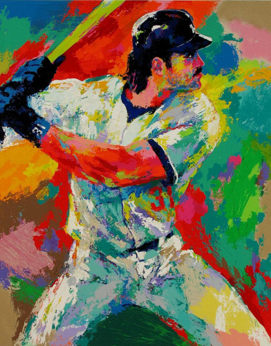 Leroy Neiman Mike Piazza Limited Edition Dual Hand Signed Serigraph