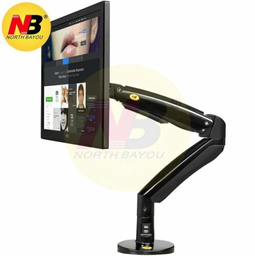 NB North Bayou F100A Monitor Desk Mount Full Motion Swivel Monitor Arm with Gas