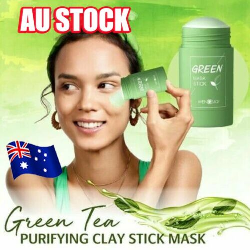 Green Tea Purifying Clay Stick Mask Oil Control Anti-Acne Eggplant Solid DM