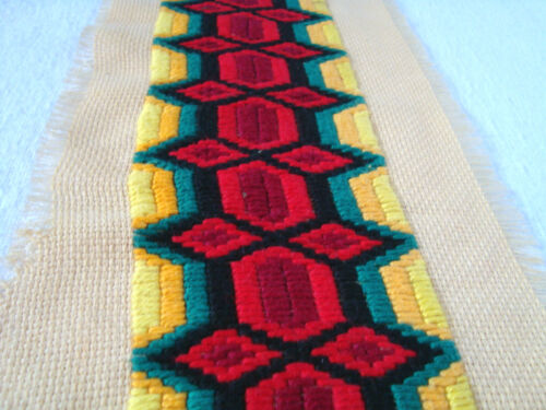 Vintage Beautiful Ottoman style Very Old Hand-Embroidered Tapestry or Motif 10