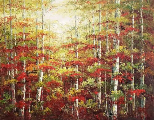 Forest  #4,  36x48 100% Hand painted Oil painting on Canvas,