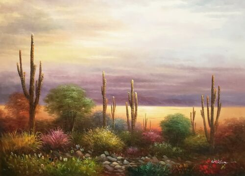 Desert Landscape  #1,  36x48, 100% Hand Painted Oil Painting on Canvas