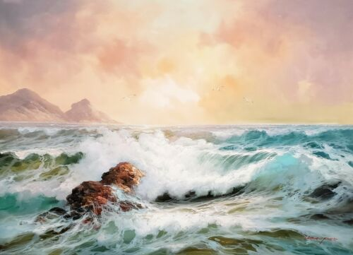 Ocean Wave  #3, 36x48, 100% Hand Painted Oil Painting on Canvas