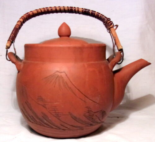 TISANIERE THEIERE ANCIENNE CHINE JAPON YIXING ? OLD TEAPOT terre cuite (N°7)