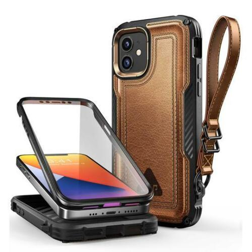 SUPCASE Leather iPhone 12 Case 12 PRO 6.1 Inch UBRoyal 2020 Screen Protector