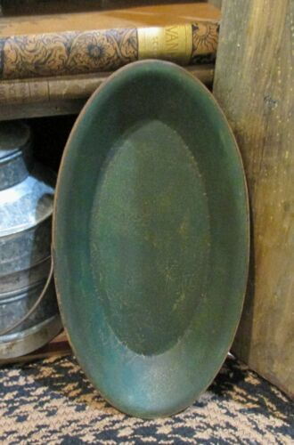 Wood Dough/Candle/Display BOWL*GREEN*Primitive/French Country Farmhouse Decor