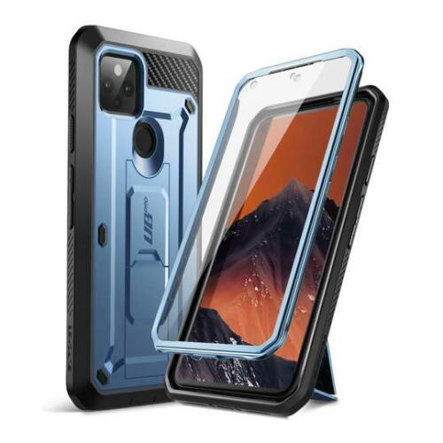Google Pixel 5 Case SUPCASE UBPRO Screen Protector Rugged 360 Kickstand Holster