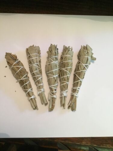 AUSTRALIAN--Small White Sage Smudge Sticks (THIN)---9-11cm---Packet of 5