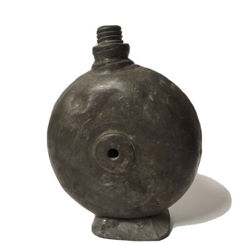 Rare Old Iron Tin Travelling Or Army Bottle Original Greek late 18th century.