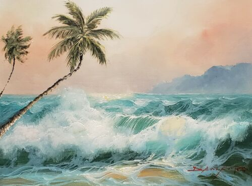 Seascape #0L01-2,  12x16 100% Hand painted Oil Painting on Canvas,