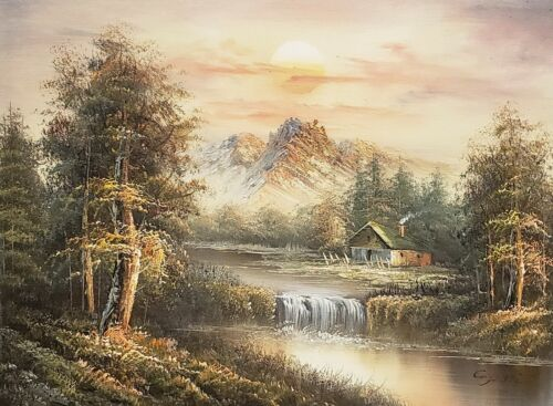 Mountain Landscape, #ML0L01-6, 12x16 100% Hand painted Oil Painting on Canvas,