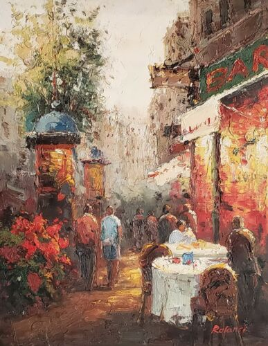 Street Scene, Itm# 0L01-2, 12x16 100% Hand painted Oil Painting on  Canvas