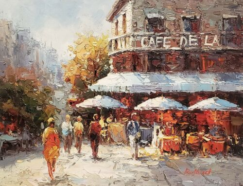 Street Scene, Item# 0L01-4, 12x16 100% Hand painted Oil Painting on  Canvas