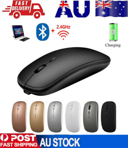 Optical Wireless Bluetooth 5.1 Slim Rechargeable Mouse for Laptop, Mac,iPad