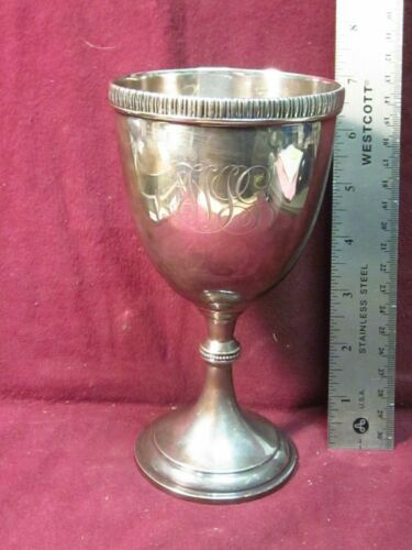 "Tiffany & Co SILVERPLATE GOBLET  7"" #4345  Mono  MIG?"