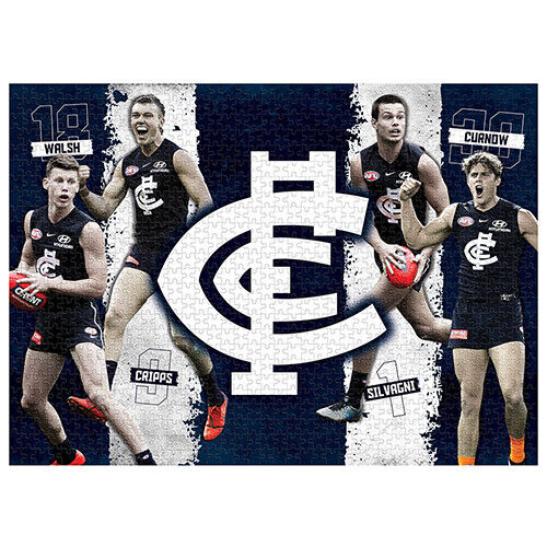 AFL Carlton 48 Piece Colouring Jigsaw Puzzle and Coloured Markers