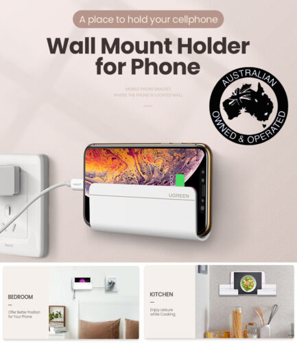 Wall Mount Smart Phone Tablet Holder Adhesive Stand Charging for Mobile iPAD AU
