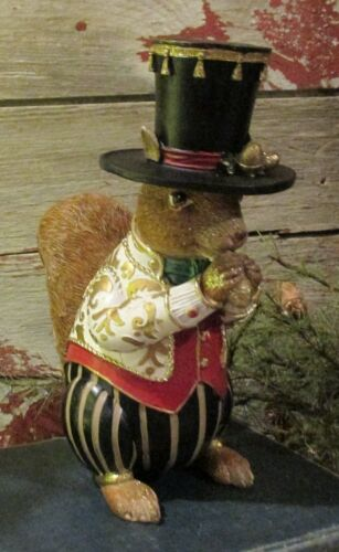 SQUIRREL Sculpture*Primitive/French Country Christmas Holiday Decor*NEW!