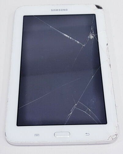 Samsung Galaxy Tab 3 Lite 7.0 2MP 1GB 8GB 3G Faulty LCD/Crack screen/SOLD AS IS