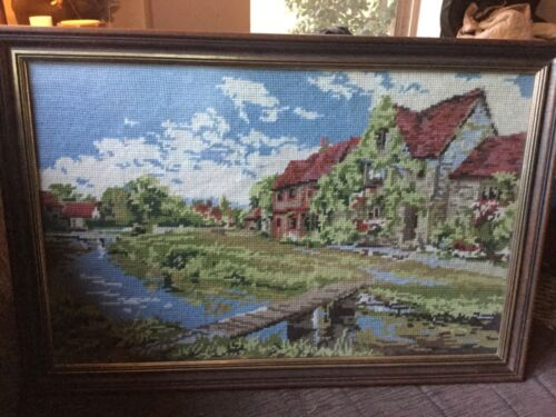 55x38.5 cm Framed Vintage Tapestry VGUC Surplus to need Local Pickup only