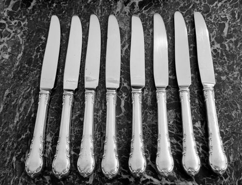 """8 Knives Lunt Modern Victorian Sterling 8 5/8"""" New French Style Stainless Blade"""