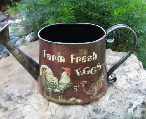 Rooster Chicken Farm Eggs Watering CAN*Primitive/French Country Farmhouse Decor