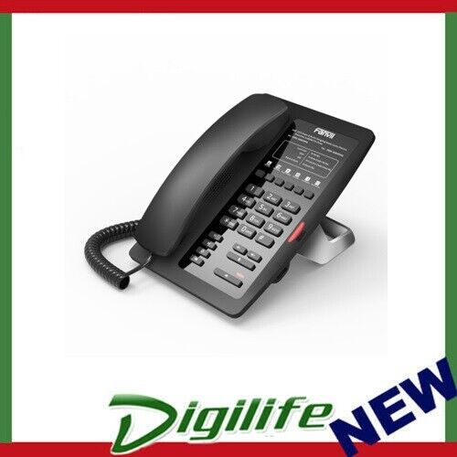 Fanvil H3 Hotel IP Phone - No Display, 1 Line, 6 x Programmable Buttons, Dual 10